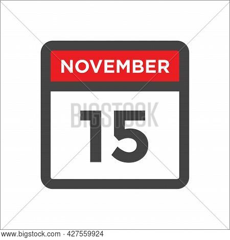 November 15 Calendar Icon W Day Of Month