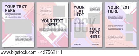 Cosmetology Brochure Template. Info For Client. Flyer, Booklet, Leaflet Print, Cover Design With Cop