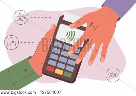 Human Microchip Implant In Hand. Nfc Implant. Implanted Rfid Transponder. Payment By Hand. Payment F