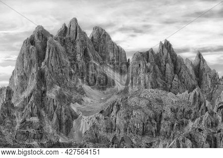 Scenic landscape in the Dolomites, Italy, Europe