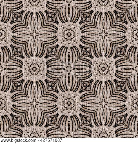 Seamless Tan Neutral Colored Denim Pattern Design For Print
