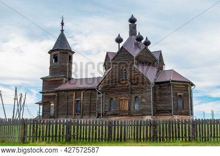 Church Of Paraskeva Pyatnitsa In The Village Of Barabanovo, Krasnoyarsk, Siberia. The Wooden Orthodo