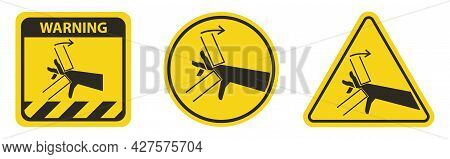 Hand Crush Pinch Point Symbol Sign Isolate On White Background