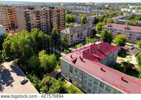 Aerial View Of Urban Development Of Balabanovo Town, Russia - June 2021