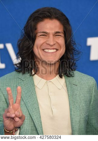 LOS ANGELES - JUL 15: Cristo Fernandez arrives for the Ted Lasso Season 2 Premiere on July 15, 2021 in West Hollywood, CA