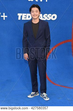 LOS ANGELES - JUL 15: Alex Shibutani arrives for the Ted Lasso Season 2 Premiere on July 15, 2021 in West Hollywood, CA