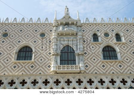 Facade Of Palace Pazzia San Marco
