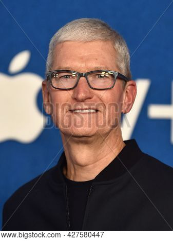 LOS ANGELES - JUL 15: Tim Cook arrives for the Ted Lasso Season 2 Premiere on July 15, 2021 in West Hollywood, CA
