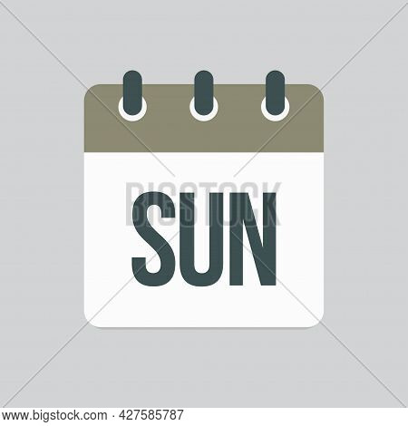 Template Icon Page Calendar, Day Of Week Sunday