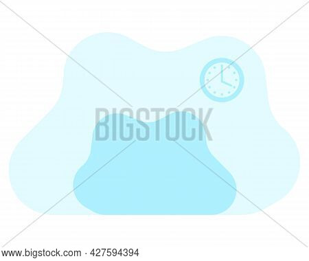Free-form Interior Template Against The Background Of A Picture And A Bedside Table. Work Form Home