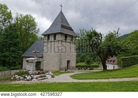 St-pierre De Chartreuse, France, June 6, 2021:  Museum Of Grande Chartreuse Monastery, Head Monaste