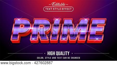 Editable Text Style Effect - Prime Text Style Theme. Graphic Design Element.