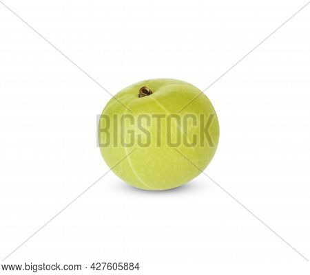 Close Up Of Gooseberry Isolated On White Background
