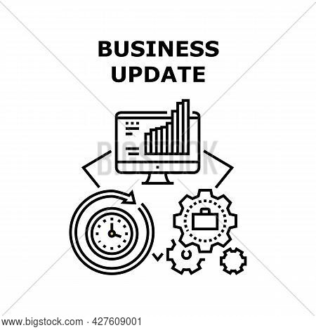 Business Update Vector Icon Concept. Business Update Technology And Updating Time Process For Earnin