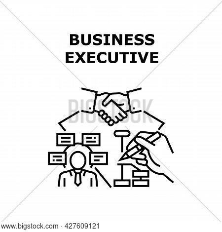 Business Executive Strategy Vector Icon Concept. Business Executive Strategy Planning And Developing