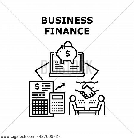Business Finance Vector Icon Concept. Business Finance Counting Income And Expanse, Researching Annu