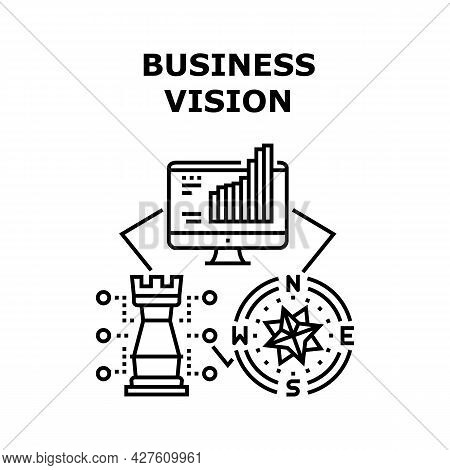 Business Vision Vector Icon Concept. Business Vision For Startup And Management Enterprise, Research