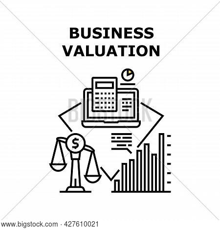 Company Business Valuation Vector Icon Concept. Company Business Valuation, Researching Annual Finan