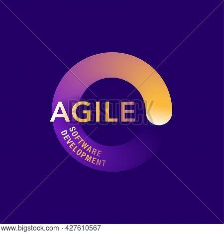 Agile Software Development Self-organizing Concept. Vector Illustration