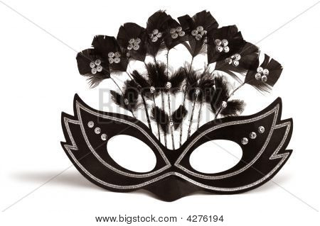 Decorated Black Mask