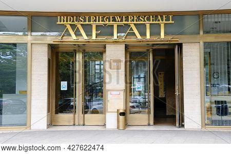 Berlin, Germany, July 21, 2021, IG-Metall House Berlin Kreuzberg in Alte Jakobstrasse