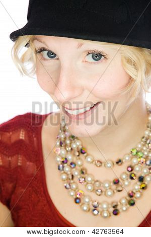 Beautiful smiling lady portrait