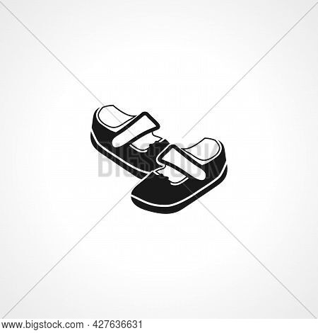 Baby Shoes Icon. Baby Shoes Simple Vector Icon. Baby Shoes Isolated Icon.