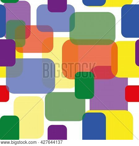 Different Lgbtq Patchwork Style Vector Seamless Pattern