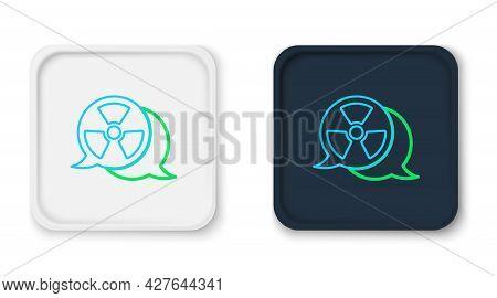 Line Radioactive Icon Isolated On White Background. Radioactive Toxic Symbol. Radiation Hazard Sign.
