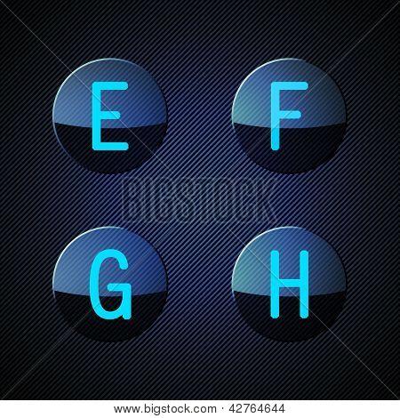 Transparent alphabet