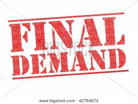Final Demand Stamp