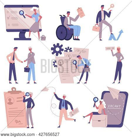 Employee Hiring. Staff Recruitment, Vacancy Candidates, Human Resources, Employers And Hr Managers V