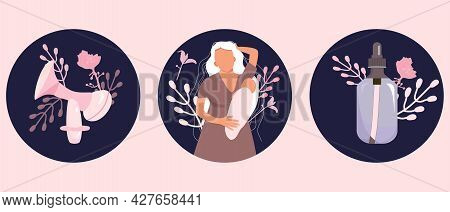 World Breastfeeding Week. Lactation Accessories Set.young Caucasian Woman With Child Nipple Cream An