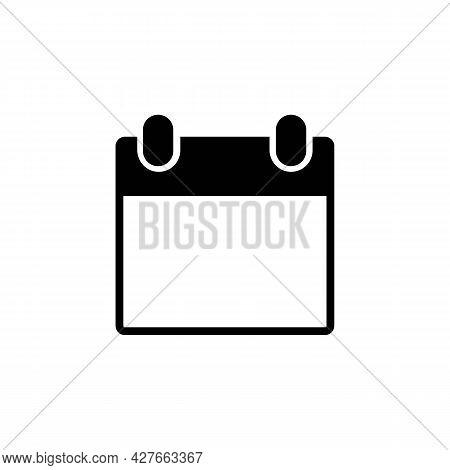Calendar, Almanac Or Planning Thin Line Icon In Black. Flip-up Calendar. Trendy Flat Isolated Symbol