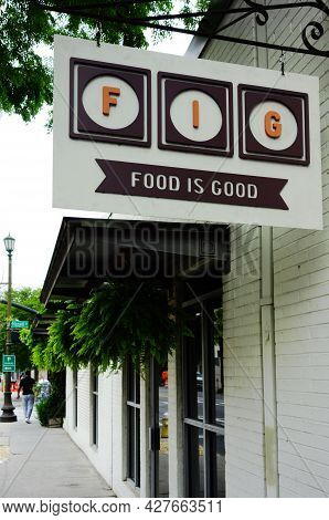 Charleston,sc - Usa - 04-20-2021: Fig Restaurant In Charleston South Carolina
