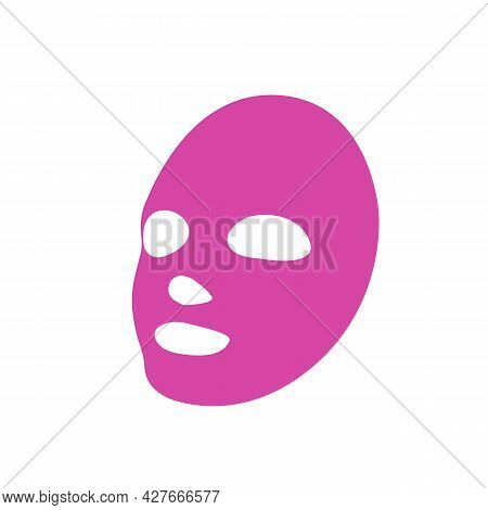 Girl Face Mask Line Icon On White. Beauty Salon Abstract Concept. Advertising Cosmetic Face Mask. Tr