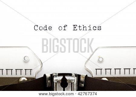 Code Of Ethics Typewriter