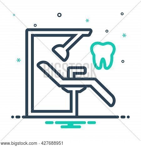 Mix Icon For Dentist-chair Orthodontics Stomatologist Surgery Dentist Chair Treatment