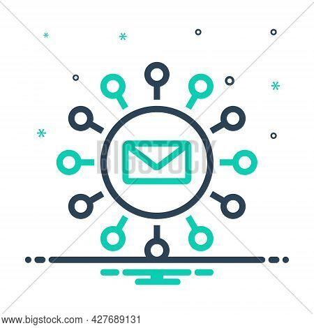 Mix Icon For Email-marketing Marketing Newsletter Mailbox Promotion Correspondence Publicity Communi