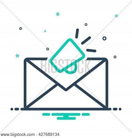 Mix Icon For Email-marketing Envelope Newsletter Promotion Marketing Megaphone Publicity Communicati