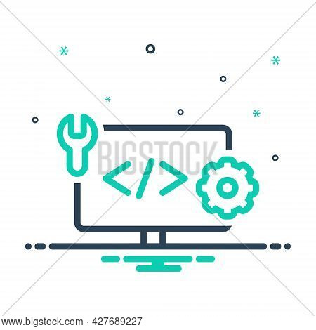 Mix Icon For Web-develop Coding Html Programming Browser Page Software Website Webpage Development S