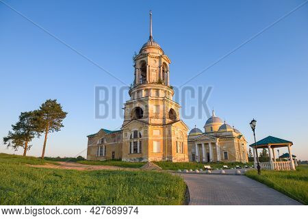 Church Of The Savior Of The Non-handcrafted Image And The Borisoglebsky Cathedral On A Warm July Mor