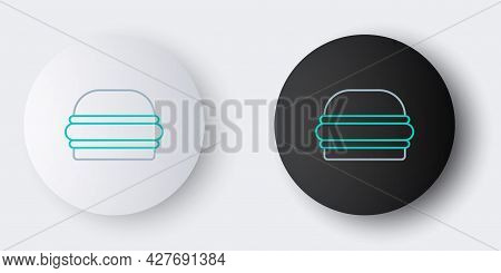 Line Burger Icon Isolated On Grey Background. Hamburger Icon. Cheeseburger Sandwich Sign. Fast Food