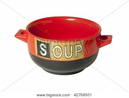 Red Bowl For Soup