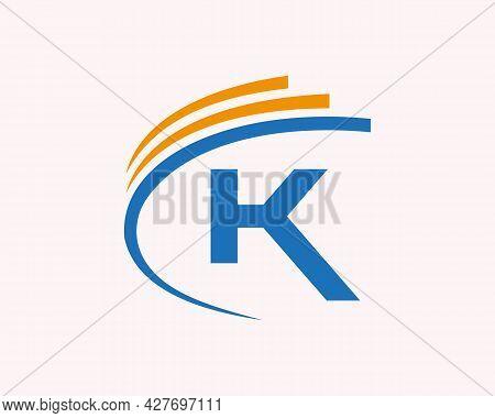 Initial K Logo Logo. K Letter Logo Design For Business, Construction And Real Estate Concept