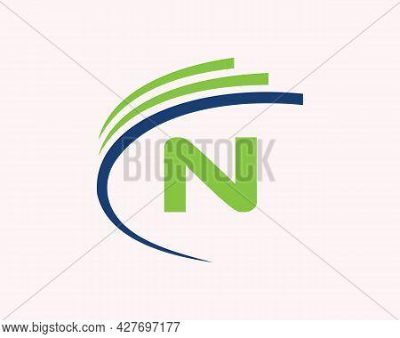 N Logo Design. N Letter Logo Design For Business, Construction, Technology And Real Estate Concept