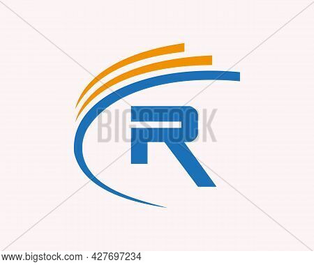 Initial R Logo Design. R Letter Logo Design For Business, Construction And Real Estate Concept