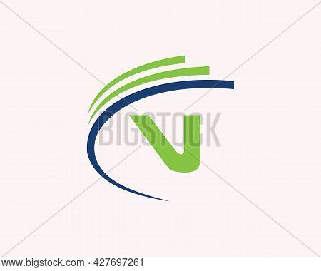 V Logo Design. V Letter Logo Design For Business, Construction, Technology And Real Estate Concept