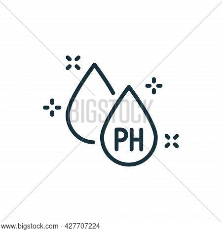 Neutral Ph Balance Line Icon. Free Acidity Concept Linear Pictogram. Non Ph Product For Hair, Skin O