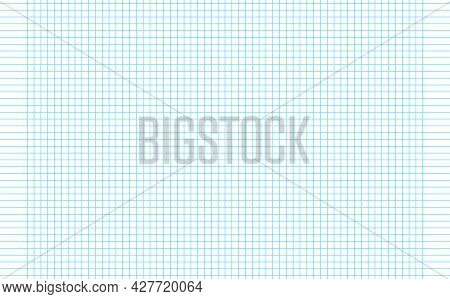 Graph Paper. Printable Squared Grid Paper With Color Horizontal Lines. Geometric Background For Scho